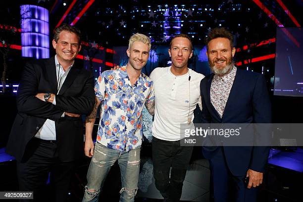 THE VOICE 'Live Finale' Episode 621B Pictured Paul Telegdy Adam Levine Chris Martin Mark Burnett
