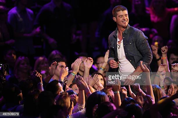 THE VOICE Live Finale Episode 621B Pictured Robin Thicke