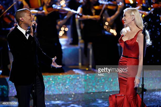 THE VOICE Live Finale Episode 718B Pictured Pharrell Williams Gwen Stefani