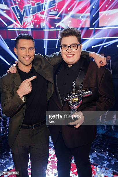 THE VOICE Live Finale Episode 918B Pictured Adam Levine Jordan Smith