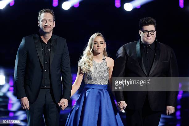THE VOICE Live Finale Episode 918B Pictured Barrett Baber Emily Ann Roberts Jordan Smith