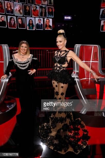"Live Finale Performances"" Episode 1914A -- Pictured: Kelly Clarkson, Gwen Stefani --"