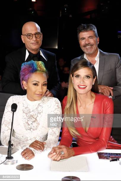 S GOT TALENT 'Live Finale' Pictured Howie Mandel Simon Cowell Mel B Heidi Klum