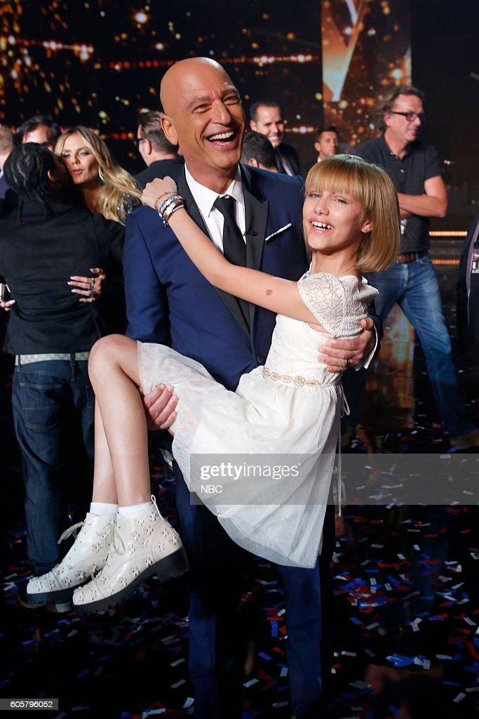 S GOT TALENT -- 'Live Finale Results' Episode 1123 -- Pictured: (l-r) Howie Mandel, Grace VanderWaal --