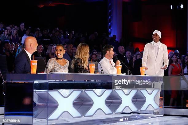 S GOT TALENT 'Live Finale Results' Episode 1123 Pictured Howie Mandel Mel B Heidi Klum Simon Cowell Nick Cannon