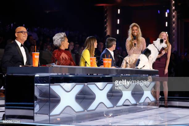 S GOT TALENT 'Live Finale Results' Episode 1224 Pictured Howie Mandell Mel B Heidi Klum Simon Cowell Tyra Banks Sara Hero
