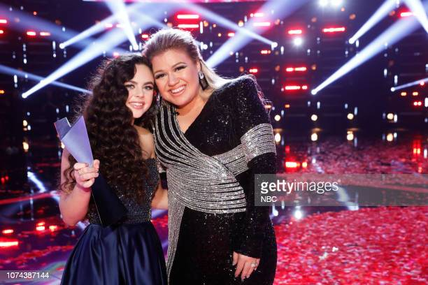 THE VOICE Live Finale Results Episode 1519B Pictured Chevel Shepherd Kelly Clarkson
