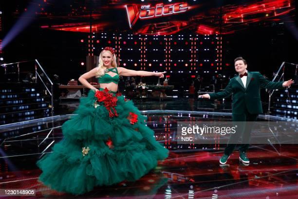 "Live Finale Results"" Episode 1914B -- Pictured: Gwen Stefani, Carter Ruben --"