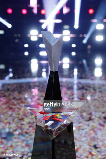 """Live Finale Results"""" Episode 1914B -- Pictured: The Voice Trophy --"""