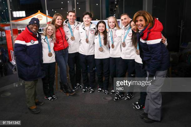 TODAY 'TODAY live from Pyeongchang South Korea for the 2018 Winter Olympics' Pictured Al Roker Alexa Scimeca Knierim Savannah Guthrie Chris Knierim...