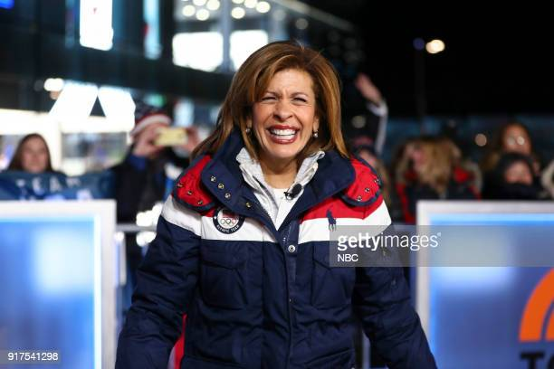 TODAY 'TODAY live from Pyeongchang South Korea for the 2018 Winter Olympics' Pictured Hoda Kotb on Monday February 12 2018