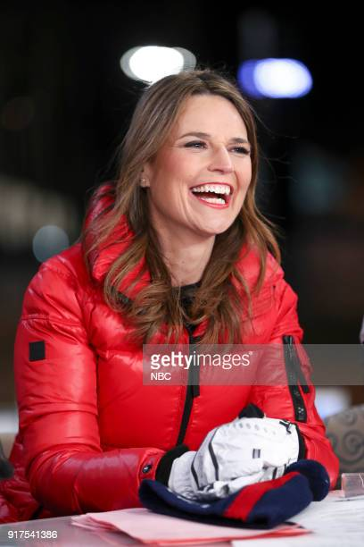 TODAY TODAY live from Pyeongchang South Korea for the 2018 Winter Olympics Pictured Savannah Guthrie on Monday February 12 2018