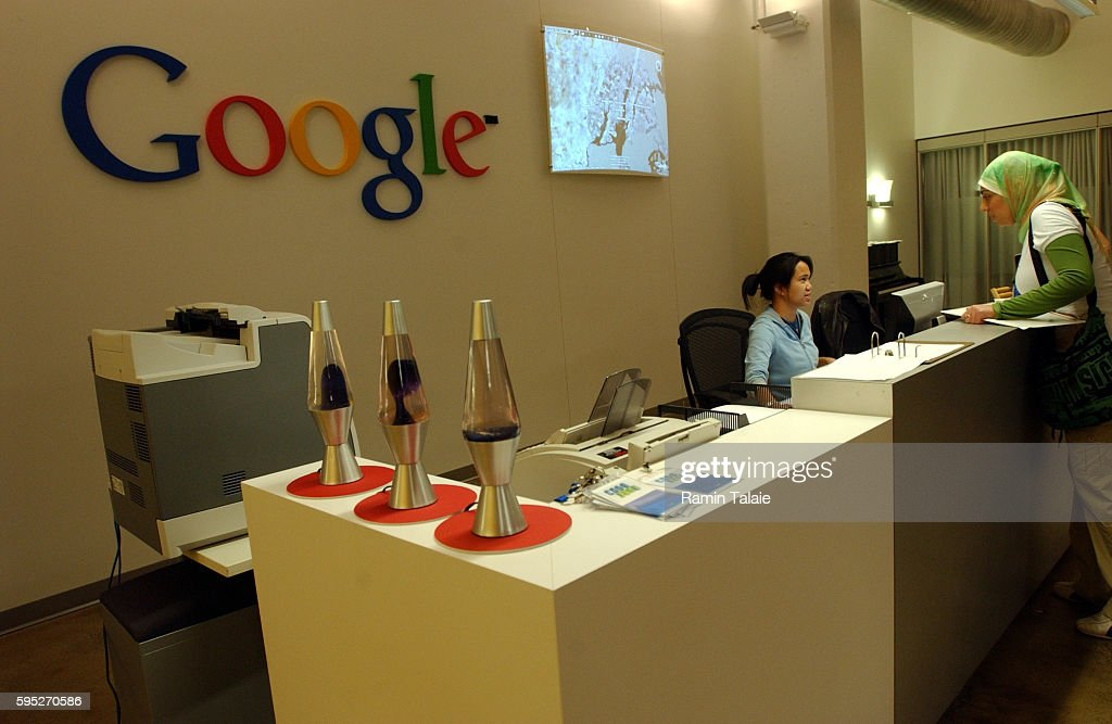 google office in usa. Google Office Usa. Live Earth Is Projected Behind The Reception Desk, Inside In Usa I