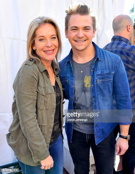 Live In The Vineyard Founder Bobbii HachJacobs and Singer Hunter Hayes attend Day 4 of Live In The Vineyard 2017 at Peju Province Winery on November...