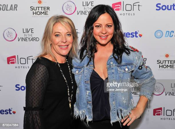 Live In The Vineyard Owner CoFounder Bobbie HachJacobs and Singer Sara Evans attend Day 2 of Live In The Vineyard 2017 on November 3 2017 in Napa...