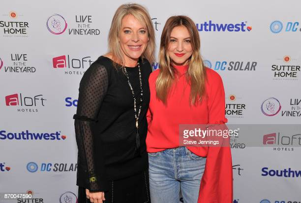 Live In The Vineyard Owner CoFounder Bobbie HachJacobs and Singer Julia Michaels attend Day 2 of Live In The Vineyard 2017 on November 3 2017 in Napa...