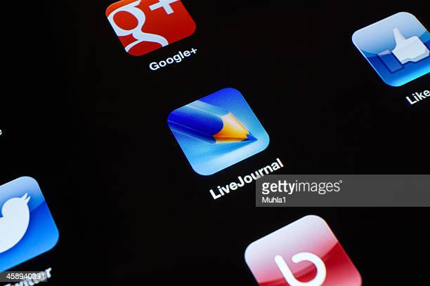 Live journal App icon on New iPad