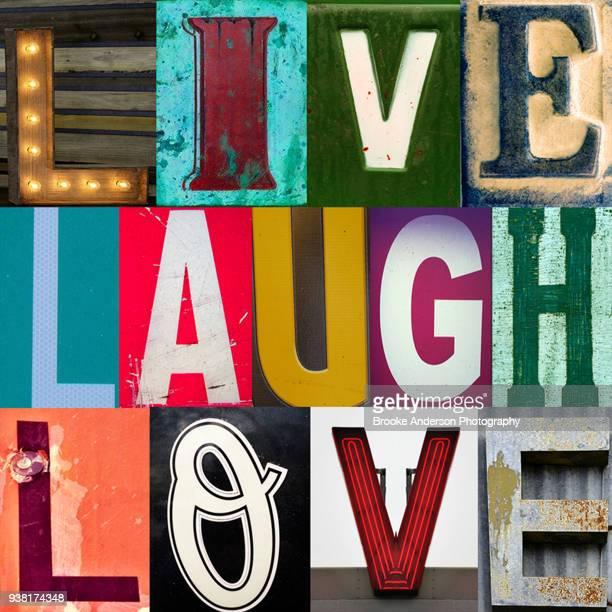 live laugh love - citation photos et images de collection