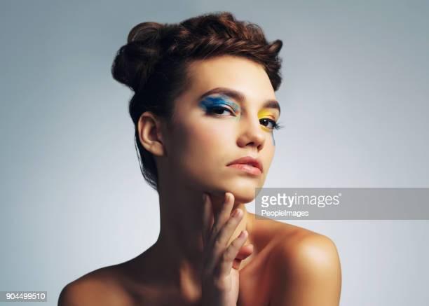 viva a vida em cores - maquiagem de olho - fotografias e filmes do acervo
