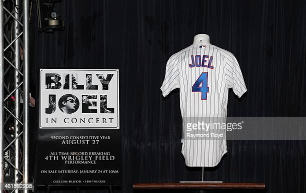 Live Nation announced Billy Joel's Fourth concert at Wrigley Field during a press conference at the Cubby Bear and unveiled a special Billy Joel Cubs...