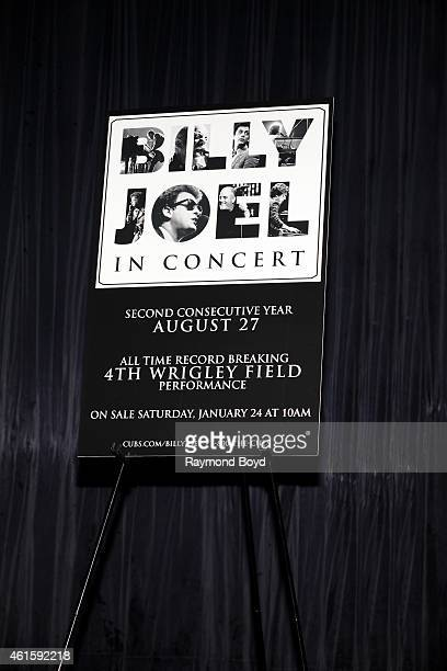 Live Nation announced Billy Joel's Fourth concert at Wrigley Field during a press conference at the Cubby Bear in Chicago on January 15, 2015 in...