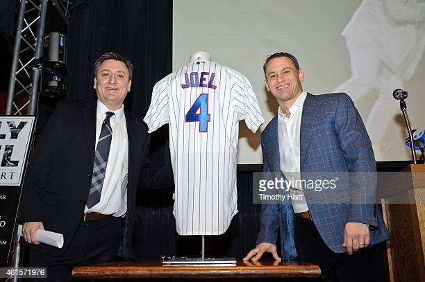 Live Nation's Jason Wright and Executive vice-president and general manager of the Chicago Cubs Jed Hoyer announce Billy Joel's August 27th 2015...