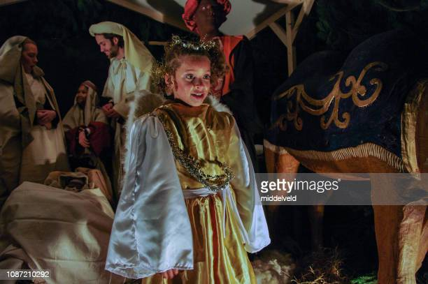 live nativity scene - jesus is alive stock pictures, royalty-free photos & images