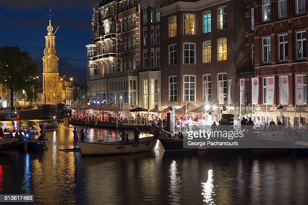 Live performance in the canals of Amsterdam
