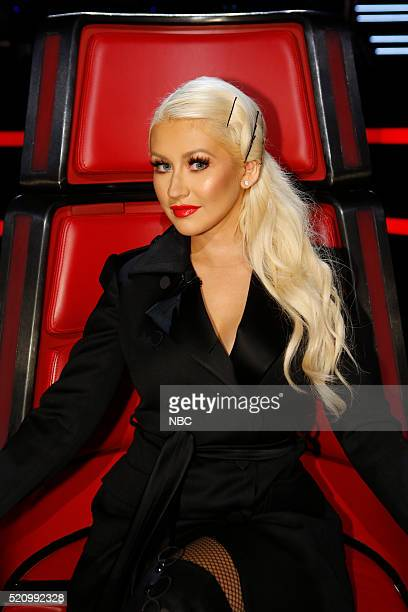 THE VOICE Live Playoffs Episode 1012C Pictured Christina Aguilera