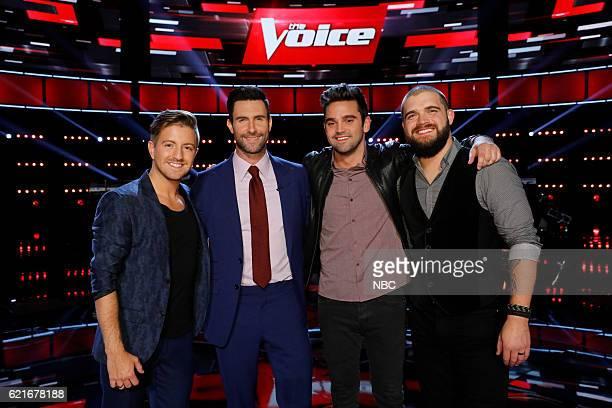 THE VOICE 'Live Playoffs' Episode 1113A Pictured Billy Gilman Adam Levine Brendan Fletcher Josh Gallagher