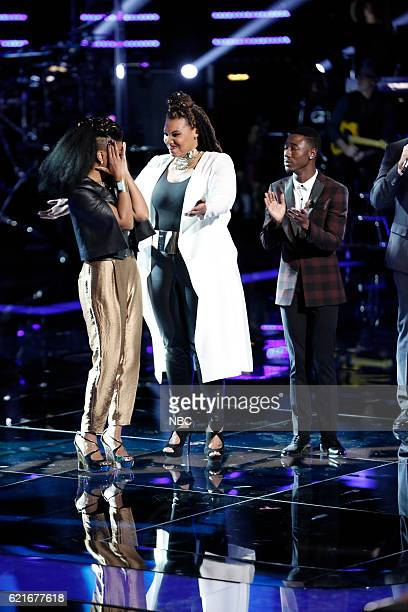 THE VOICE Live Playoffs Episode 1113A Pictured Courtney Harrell Dana Harper Jason Warrior