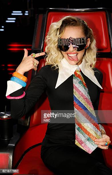 THE VOICE Live Playoffs Episode 1113A Pictured Miley Cyrus