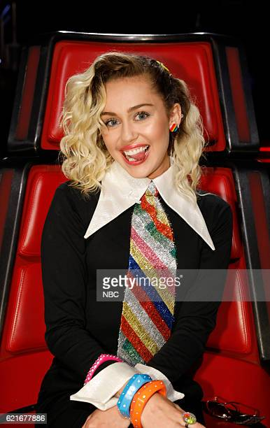 THE VOICE 'Live Playoffs' Episode 1113A Pictured Miley Cyrus