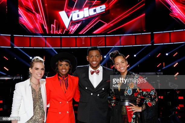 THE VOICE 'Live Playoffs' Episode 1214A Pictured Stephanie Rice Vanessa Ferguson Chris Blue Alicia Keys