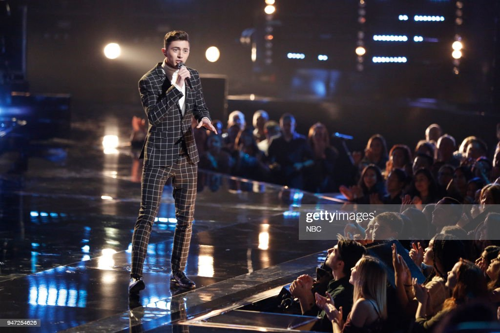 THE VOICE -- 'Live Playoffs' Episode 1414A -- Pictured: Austin Giorgio --