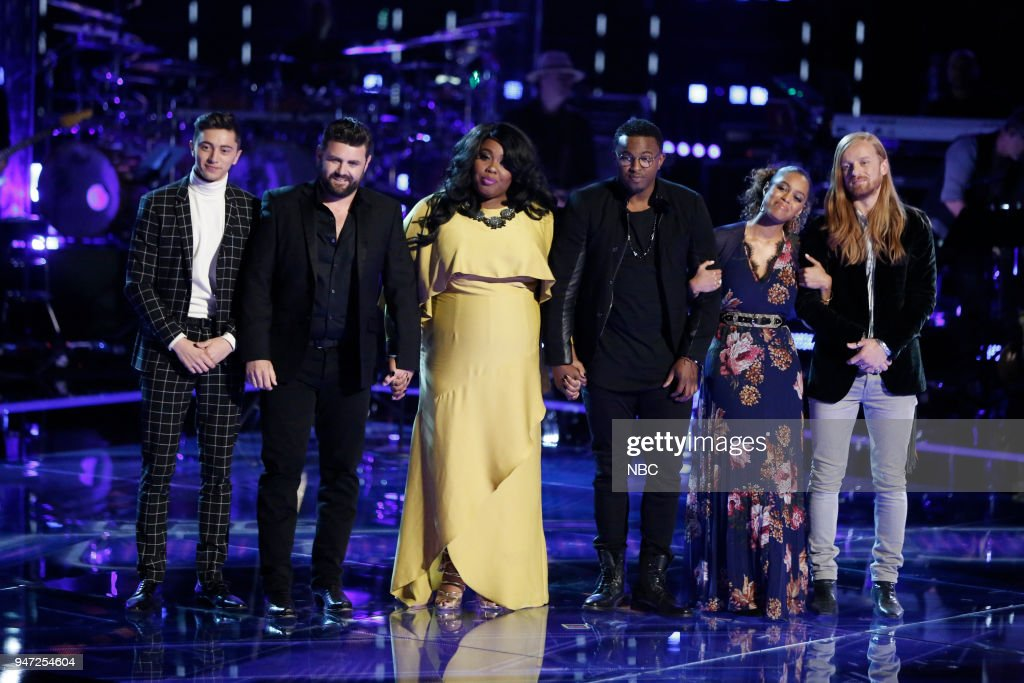 THE VOICE -- 'Live Playoffs' Episode 1414A -- Pictured: (l-r) Austin Giorgio, Pryor Baird, Kyla Jade, Gary Edwards, Spensha Baker, Wilkes --