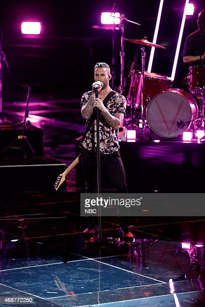 THE VOICE 'Live Playoffs' Episode 812A Pictured Adam Levine with Maroon 5