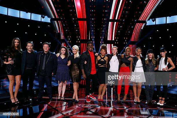 THE VOICE Live Playoffs Episode 812C Pictured Deanna Johnson Joshua Davis Brian Johnson Hannah Kirby Meghan Linsey Rob Taylor India Carney Corey Kent...