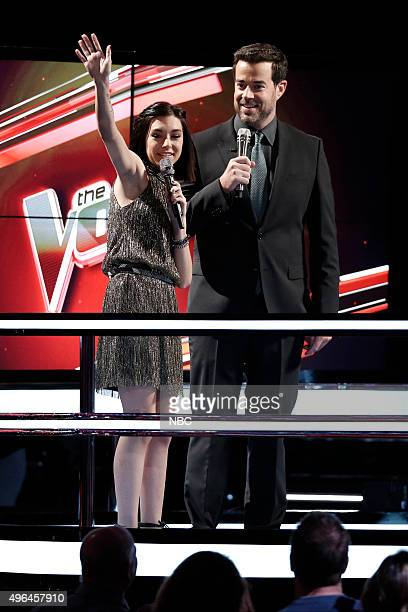 THE VOICE Live Playoffs Episode 913A Pictured Christina Grimmie Carson Daly