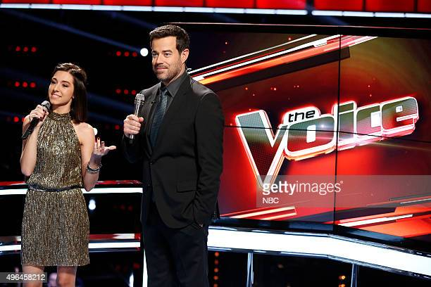 THE VOICE 'Live Playoffs' Episode 913A Pictured Christina Grimmie Carson Daly
