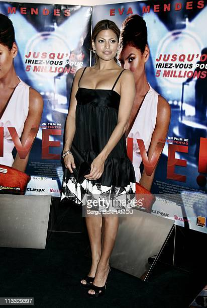 'Live' Premiere In Paris France On January 14 2008 Eva Mendes