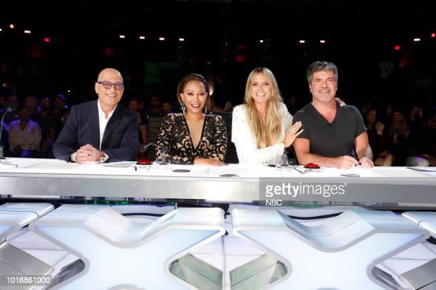 S GOT TALENT Live Quarter Finals 1 Episode 1311 Pictured Howie Mandel Mel B Heidi Klum Simon Cowell