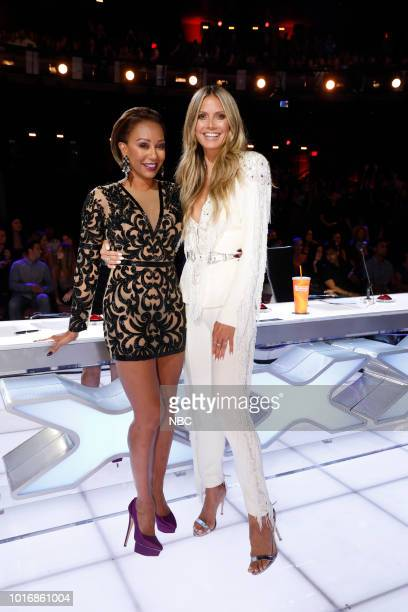 "Live Quarter Finals 1"" Episode 1311 -- Pictured: Mel B, Heidi Klum --"
