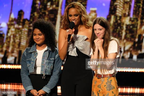 S GOT TALENT 'Live Quarter Finals Results 1' Episode 1312 Pictured Amanda Mena Tyra Banks Courtney Hadwin