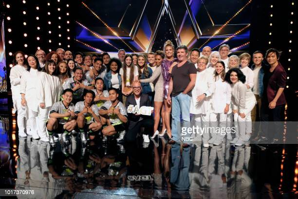 S GOT TALENT 'Live Quarter Finals Results 1' Episode 1312 Pictured Angel City Chorale Junior New System Amanda Mena Courtney Hadwin Vicki Barbolak...