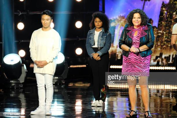 S GOT TALENT 'Live Quarter Finals Results 1' Episode 1312 Pictured Mochi Amanda Mena Vicki Barbolak