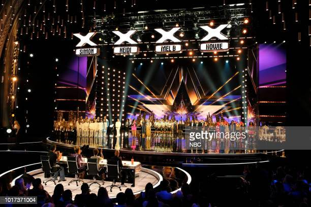 S GOT TALENT 'Live Quarter Finals Results 1' Episode 1312 Pictured Simon Cowell Heidi Klum Mel B Howie Mandel Angel City Chorale Mochi Amanda Mena...
