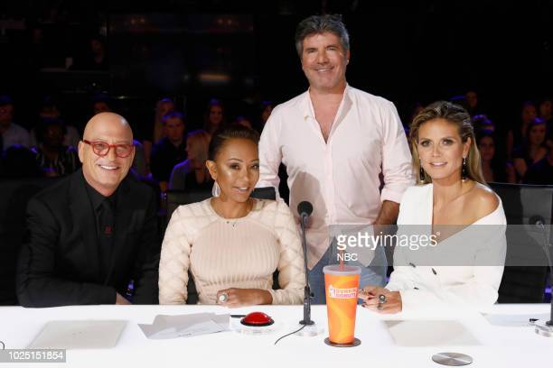 S GOT TALENT 'Live Quarter Finals Results 3' Episode 1316 Pictured Howie Mandel Mel B Simon Cowell Heidi Klum