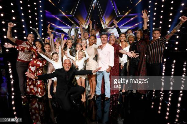 S GOT TALENT Live Quarter Finals Results 3 Episode 1316 Pictured Us the Duo Zurcaroh Howie Mandel Mel B Simon Cowell Christina Wells Heidi Klum Brian...