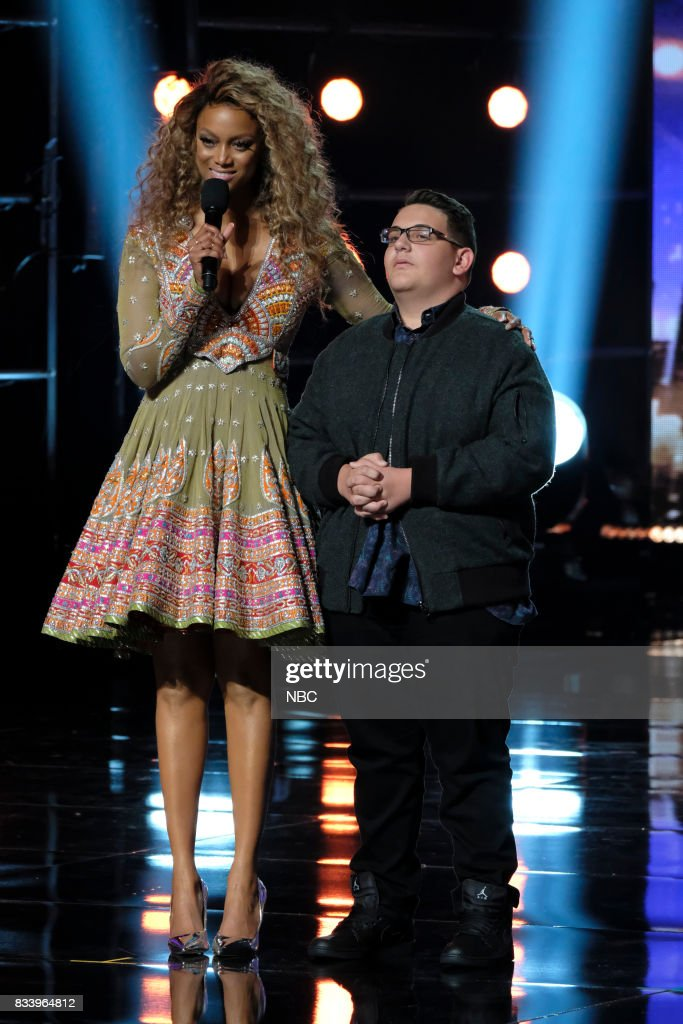 S GOT TALENT -- 'Live Results 1' Episode 1214 -- Pictured: (l-r) Tyra Banks, Christian Guardino --